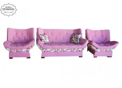 Set Zara roz cu flori