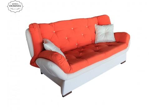 Canapea Extensibila 3 locuri Zara bej/portocaliu